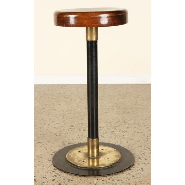 Bronze Lacquered Wood Bar Stools For Sale - Image 7 of 7