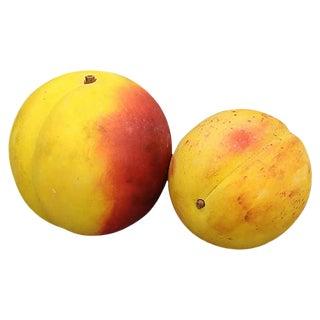 Italian Alabaster Peach & Apricot, 2 Pcs For Sale