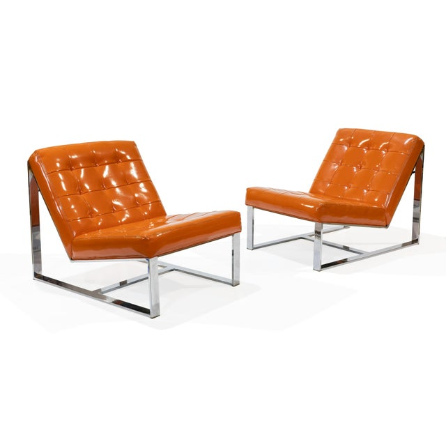 1960s Vintage Milo Baughman Lounge Chairs- A Pair For Sale In Philadelphia - Image 6 of 6
