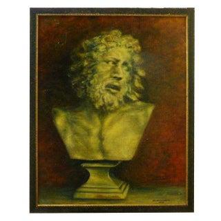 Neoclassical Bust French Painting by Durand Louis For Sale