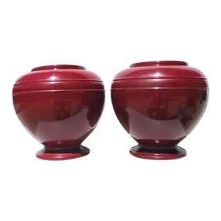 1930s Robinson Ransbottom Oil Jars - a Pair For Sale