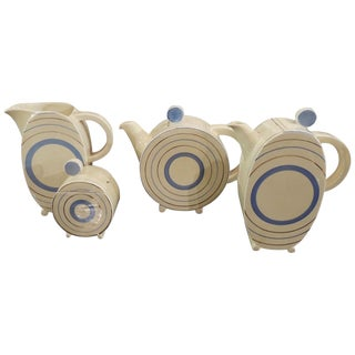 Clarice Cliff Art Deco Tea and Coffee Set for Eight For Sale