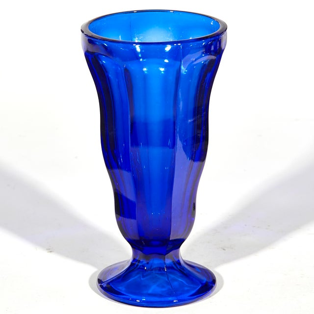 Mid-Century Modern Cobalt Tall Parfait Stems, Set of 8 For Sale - Image 3 of 5