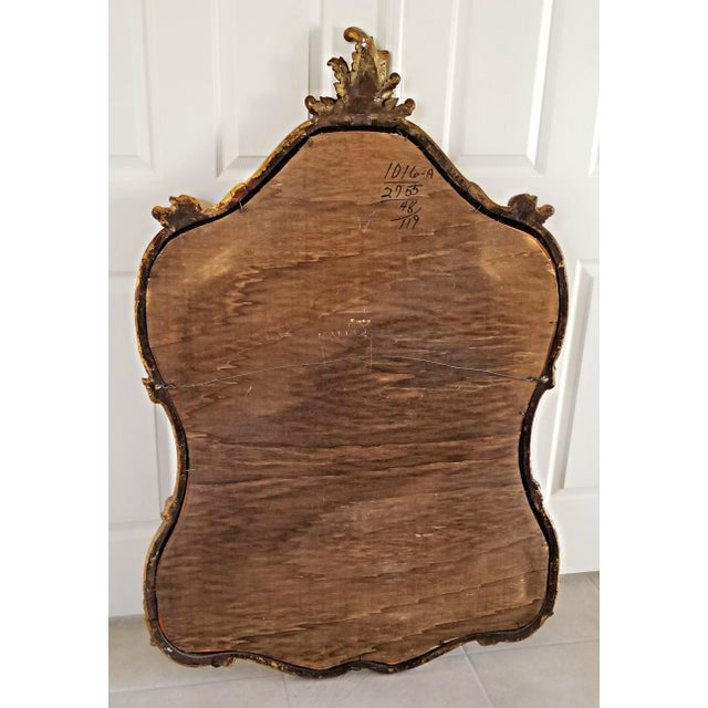Italian Baroque Style Carved Giltwood Mirror, Mid-19th Century For Sale - Image 9 of 11