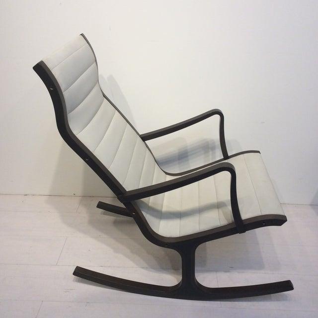 Tendo Mokko Mitsumasa Sugasawa for Tendo Mokko Mid-Century Modern Heron Rocking Chair For Sale - Image 4 of 10