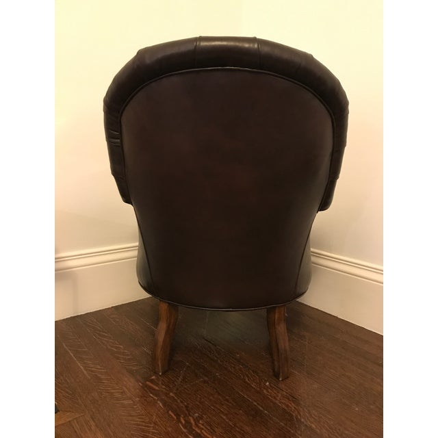 Ralph Lauren Home Collection Classic Leather Club Chair - Image 5 of 6