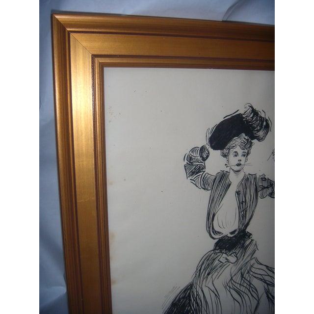 Vintage 1906 Original Drawing by John G Wilson - Image 5 of 7