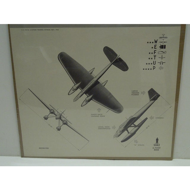 WWII Heinkel 115 K2 Aircraft Recognition Poster For Sale - Image 4 of 4