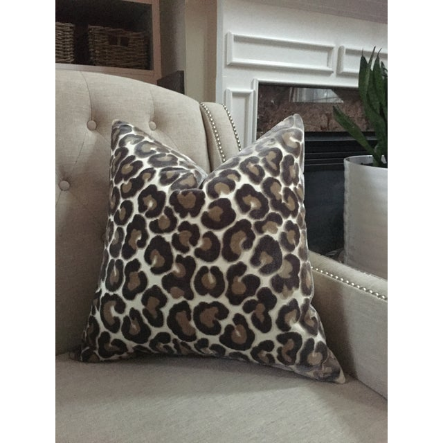 "Contemporary Kravet Couture ""Hunt Is On"" Animal Print Pillow Covers - a Pair For Sale - Image 3 of 6"