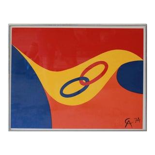 "Alexander Calder ""Friendship Rings"" Lithograph, 1974 For Sale"