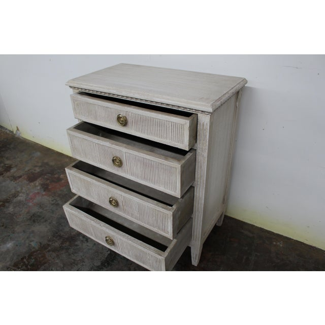 20th Century Vintage Swedish Gustavian Style Nightstands-A Pair For Sale - Image 4 of 11