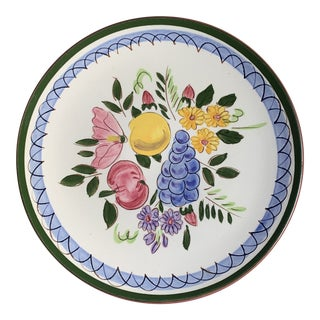 """Mid-Century Stangl Pottery """"Fruits and Flowers"""" Salad Plate For Sale"""