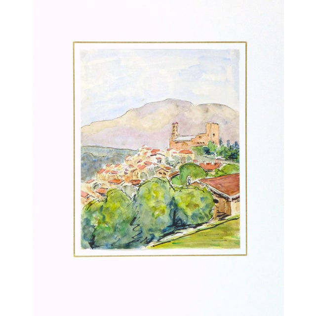 Vintage French Watercolor - Provence, France - Image 4 of 4