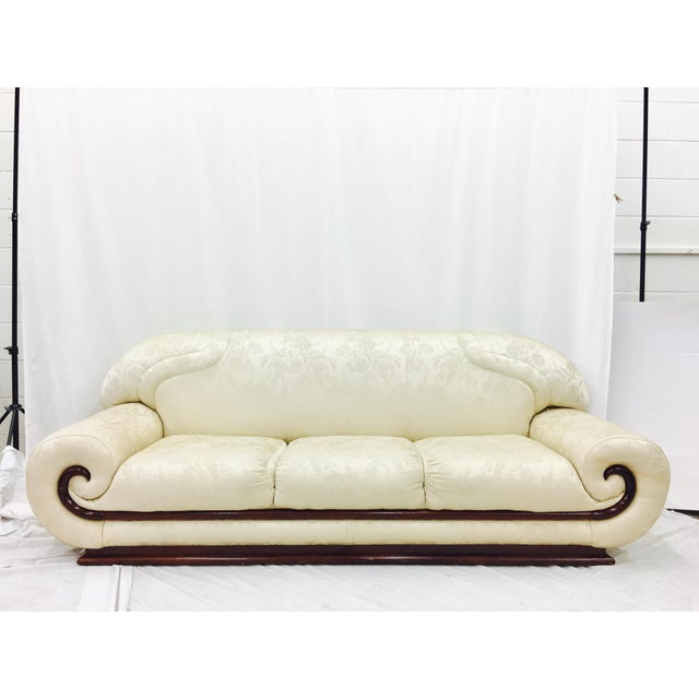 Art deco asian style sofa chairish for Chinese style sofa