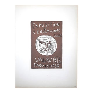 Vintage Mid Century Color Lithograph-Picasso-Printed By Mourlot For Sale