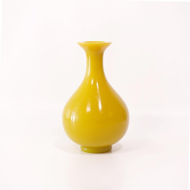 Early 20th Century Early Peking Glass Imperial Yellow Pear Vase For Sale In New York - Image 6 of 6