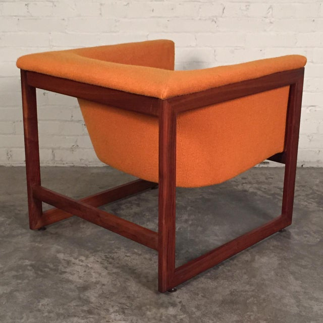 Milo Baughman Milo Baughman Mid-Century Modern Floating Cube Chairs - A Pair For Sale - Image 4 of 10