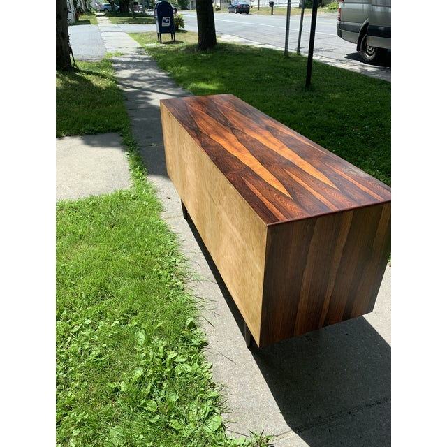 Mid-Century Svend Madsen for Falster Compact Rosewood Credenza For Sale - Image 12 of 13
