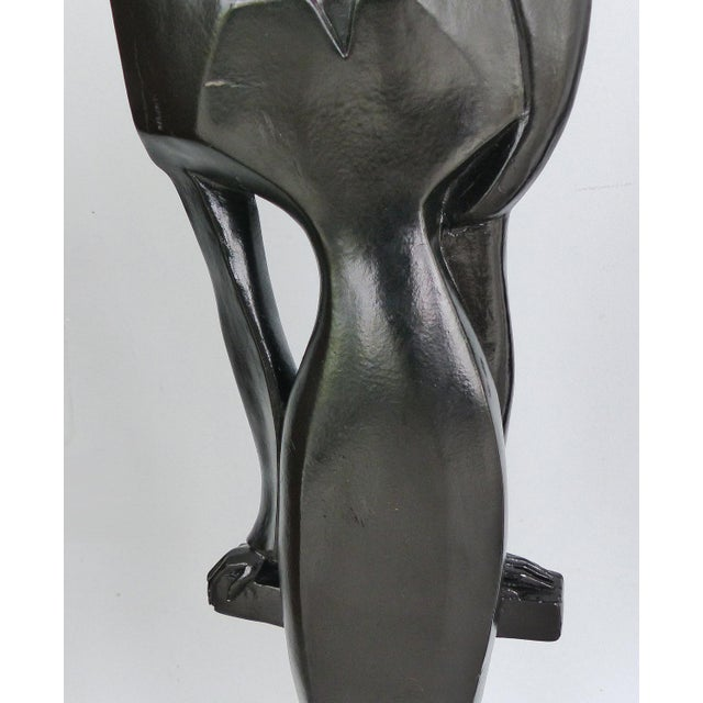 1980s Vintage Art Deco Style Female Figure Statue For Sale - Image 5 of 9