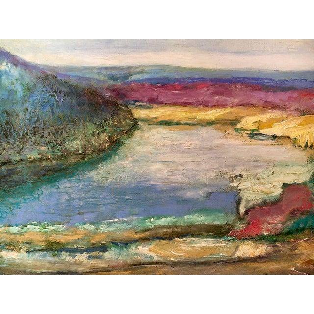 Jeffrey Leitz Original Signed Painting Connecticut Landscape Abtract For Sale - Image 4 of 10