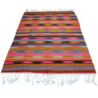 "Vintage Anatolian Kilim Rug - 5'9"" x 8'9"" For Sale"