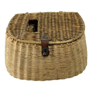 1920s Antique Fly Fishing Creel Basket