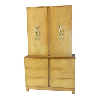 Tall Gentleman's High Chest Mirrored Compartment For Sale