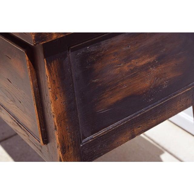 Danish Modern 1990s Danish Modern Alden Parkes iReclaimed Wood Sofa/Console Table For Sale - Image 3 of 10