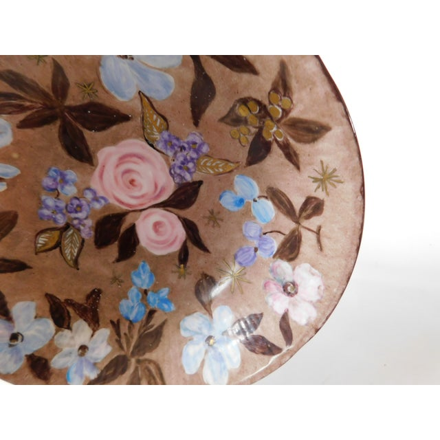 Hand-Painted Swedish Floral Porcelain Bowl For Sale - Image 4 of 13