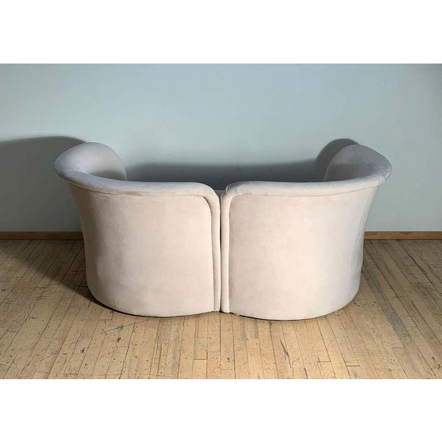 Tete-a-Tete Love Seat Sofa by Milo Baughman / manner of Vladimir Kagan For Sale - Image 10 of 13