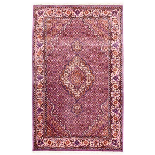 "Modern Traditional Pasargad N Y Fine Tabriz Mahi Design Silk & Wool Rug - 3' X 4'10"" For Sale - Image 3 of 5"