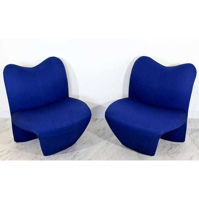 For your consideration is a fabulous pair of Sculpted, side lounge chairs. In good vintage condition, with condition...