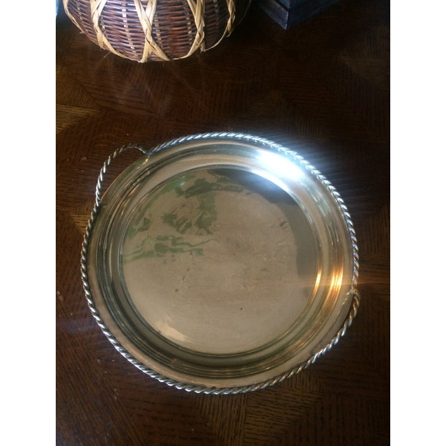1980s Brass Tray With Handles For Sale - Image 4 of 6