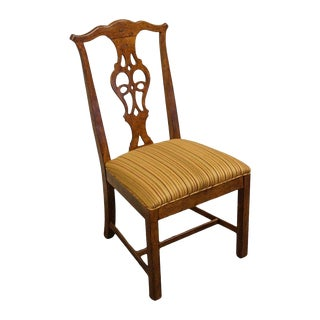 Solid Cherry Chippendale Style Dining Side Chair For Sale