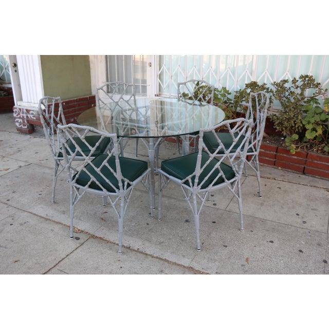Venemen Outdoor Cast Iron Patio Set For Sale - Image 4 of 13