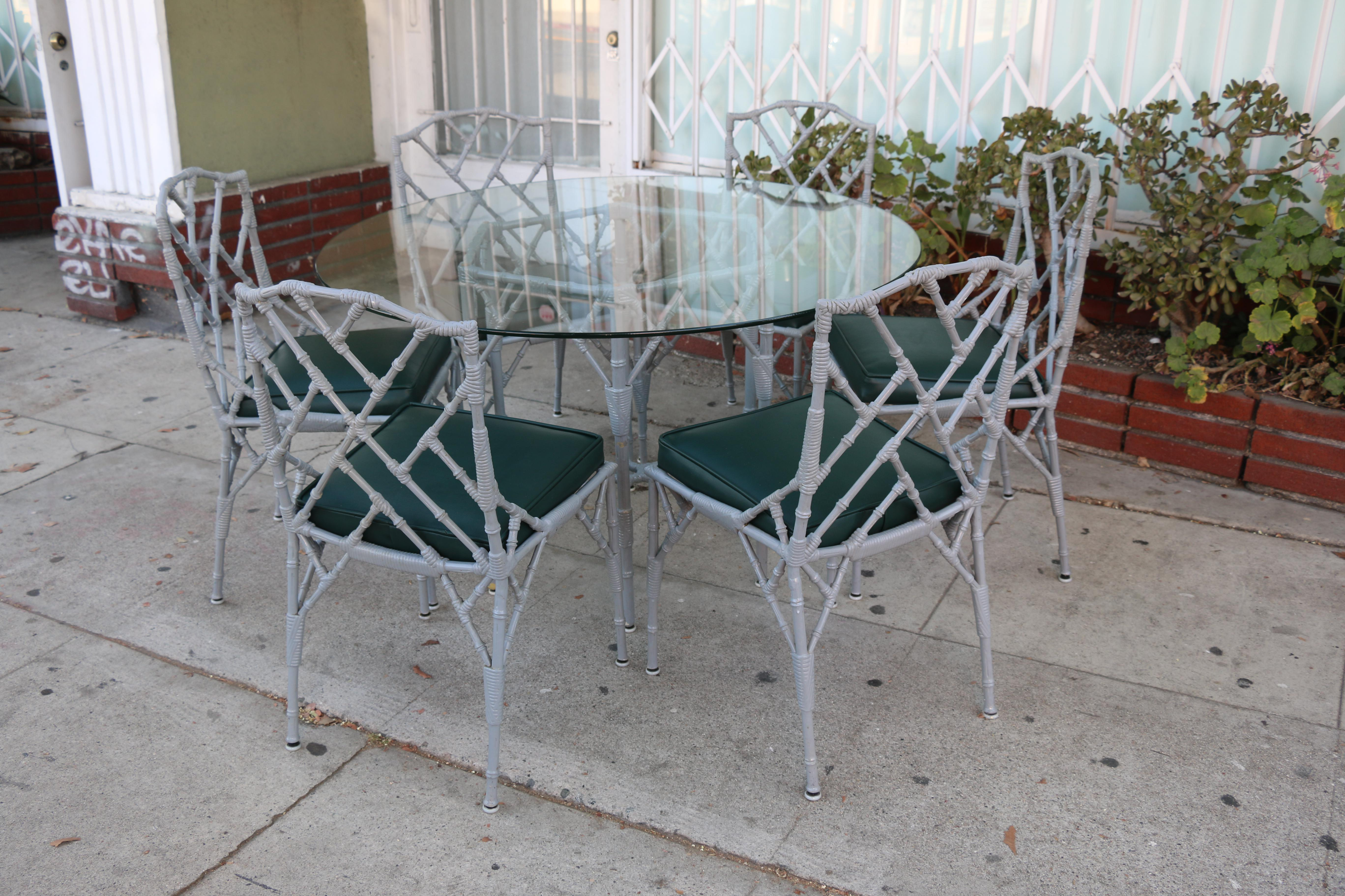 Venemen Outdoor Cast Iron Patio Set For Sale   Image 4 Of 13