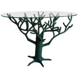 Image of French Green Resin Tree Sculpture Table For Sale
