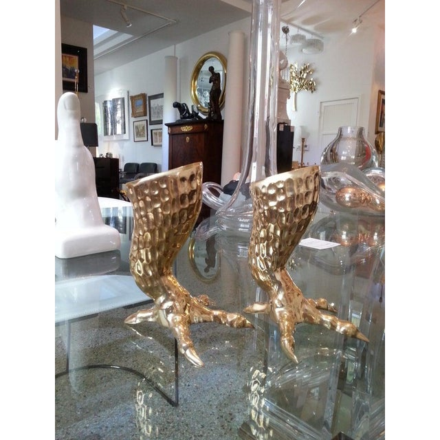 This stylish, chic and unique set of eagle talon candlesticks have been professionally polished and they will make a...