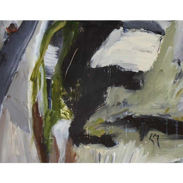 """2010s Laurie MacMillan """"Pathways"""" Abstract Painting For Sale - Image 5 of 6"""