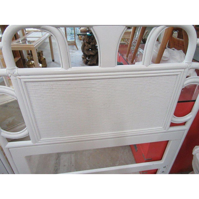 Ficks Reed White Rattan Twin Headboards - a Pair - Image 2 of 7