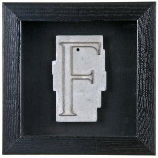Framed Mid Century Spacerite Steel Letter F