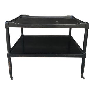 French Industrial Two-Tiered Coffee/End Table For Sale