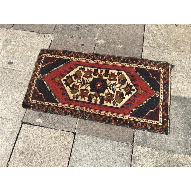 Modern Vintage Handmade Anatolian Rug- 1′10″ × 3′6″ For Sale - Image 3 of 6