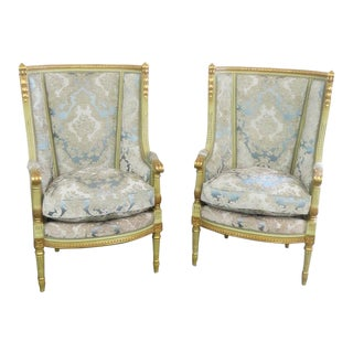 Regency Style High Back Chairs- A Pair For Sale