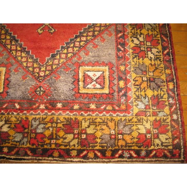 Vintage Handmade Oriental Rug - 3′6″ × 5′7″ For Sale - Image 5 of 7
