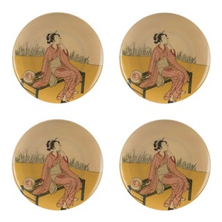 Kyoto Style A Dinner Plate - Set of 4 For Sale