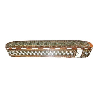 18th C. Indo Persian Mosaic Pen Box For Sale