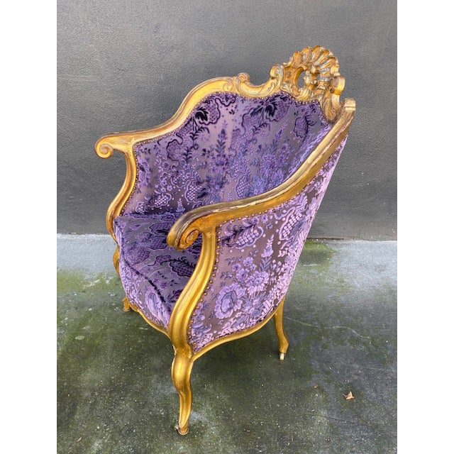 Wood Late 19th Century Vintage Italian Giltwood Chair For Sale - Image 7 of 13