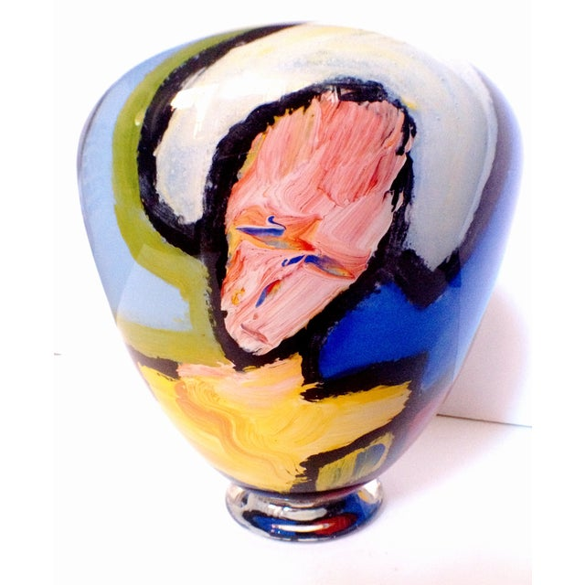 Handblown Faces Vase by Thor Bueno - Image 5 of 6