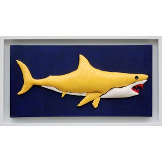 Enrico Cecotto Lemon Shark Contemporary Sculptural Painting For Sale